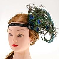 Abbraccia Vintage Retro 20s Flapper Headband Headwear Fascinator Hair Accessories - 伸びる