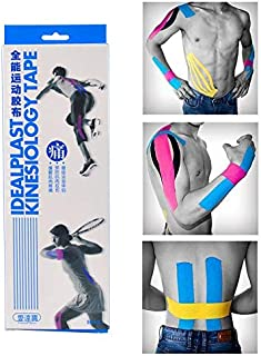 CHZDYDJD Cinta De Kinesiología 12 Pcs Pre-Cut Sports Tape Kinesiology Tape Cotton Elastic Adhesive Muscle Bandage Care Physio Strain Injury Support