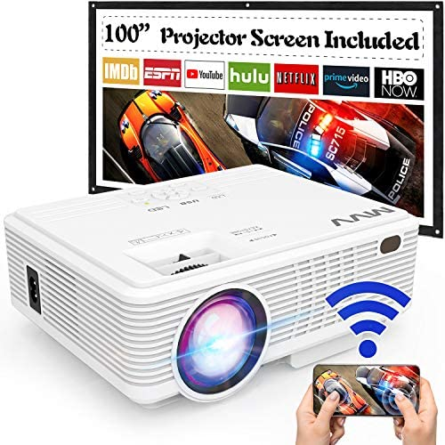 MVV WiFi Projector 1080P Outdoor Projector with 100 Screen 5500 Lumen Mini Portable Projector product image