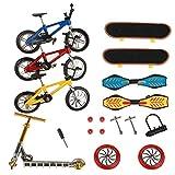 ideallife Mini Finger Toys Set, Mini Scooter Finger Skateboards Finger...