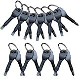 CosCosX 10 Sets Stainless Keychain Pocket Tool EDC Screwdriver Set with Keychain