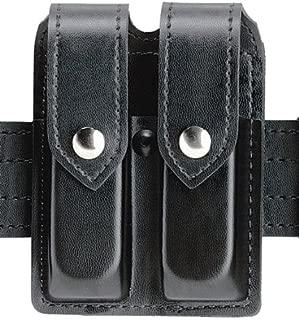 Safariland Duty Gear Glock 19, 23, Chrome Snap Double Handgun Magazine Pouch (Plain Black)