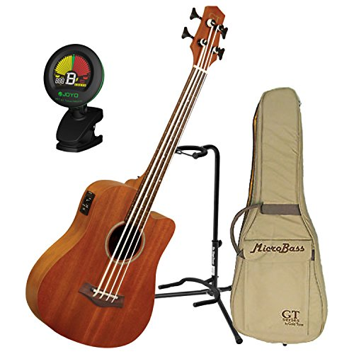 Goldtone M Bass Microbass Fretless Short-Scaled Acoustic Electric Bass w/Gig Ba