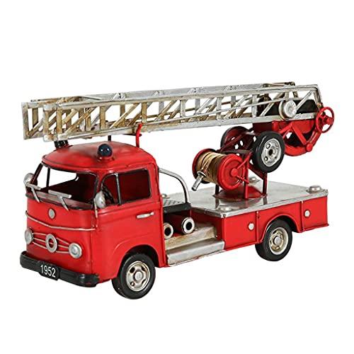 XHAEJ Modelo de automóviles Retro Decoración Adornos Fuego Camión Modelo Modelo Oficina Dormitorio Dormitorio Decoración de Escritorio Hierro Crafts Crafts Decoración Colección de Regalos