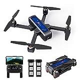 Goolsky MJX B4W RC Selfie Drone GPS sin Escobillas RC con Cámara 2K 5G WiFi FPV Posicionamiento de Flujo óptico Quadcopter Plegable Sígueme Altitud Mantenga con el Bolso de 2 Baterías