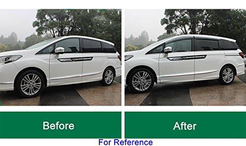 4pcs humo color ventana rejilla de ventilación/visera Shade Lluvia protector guardia de protección solar viento Shied con emblemas ajuste personalizado, adornos en cromo para BMW X5 E70 2008 2009 2010 2011 2012