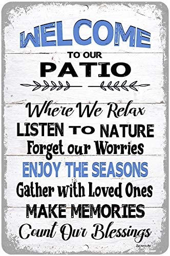 Dyenamic Art Charlotte Mall Welcome to Our Fa Patio Challenge the lowest price of Japan ☆ Indoor Outdoor Sign