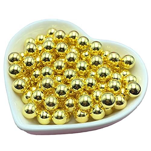 手芸パール 金色 穴無し ツヤ有り 6mm100個 8mm50個 2サイズ合計150個セット / ゴールド ハンドメイド アクセサリーパーツ /金色パール (合計150個セット)