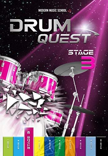 Drum Quest Stage 3: Die Schlagzeugschule für Anfänger. Schlagzeug lernen leicht und effektiv. Schlagzeug Buch Songbuch mit Bonus-Material (DEU)