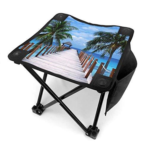 End Nazi Tabouret de Camping chaises Pliantes Tropical Paradise Beach avec Palmiers et siège de Chaise Portable de mer