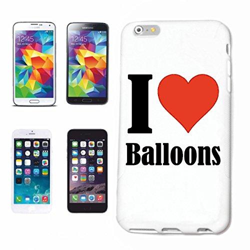 Bandenmarkt telefoonhoes compatibel met iPhone 7+ Plus I Love Balloons hardcase beschermhoes mobiele telefoon cover Smart Cover