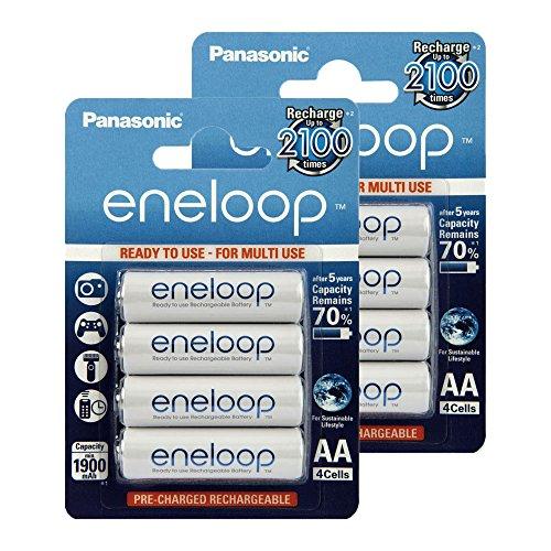 Panasonic eneloop Piles Rechargeables Batterie type de Mignon AA 2000mAh préchargées
