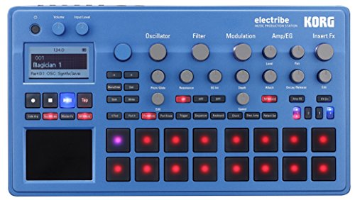 Korg ELECTRIBE Synth-basierte Produktionsstation Korg ELECTRIBE2BL Synth in EMX blau mit V2.0 Software blaumetallic