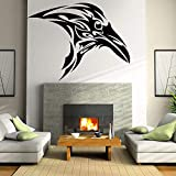 wZUN Crow Etiqueta de la Pared calcomanía de Vinilo pájaro Animal Dormitorio decoración de la cabecera Cuervo extraíble decoración del hogar 28X36 cm