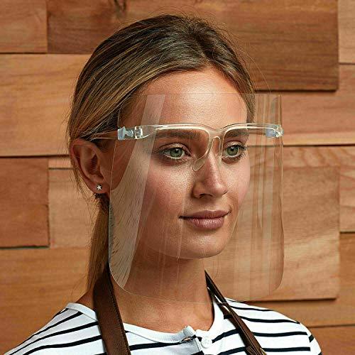 Visera protectora facial con gafas,...