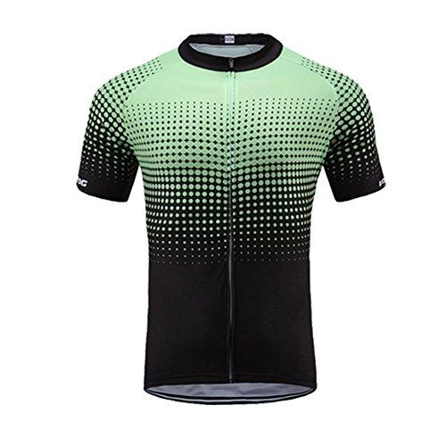 UGLY FROG Lifestyle Fahrradtrikot Kurzarm für Herren, Atmungsaktive und Schnelltrocknende Fahrradbekleidung, Radtrikot mit Reißverschluss,Fahrrad Trikot für Männer mit 3 großen Rückentaschen