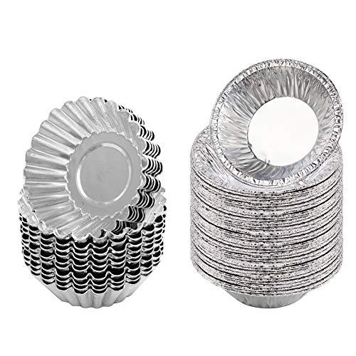 Molde de papel de aluminio desechable para tartas de huevo, 150 unidades