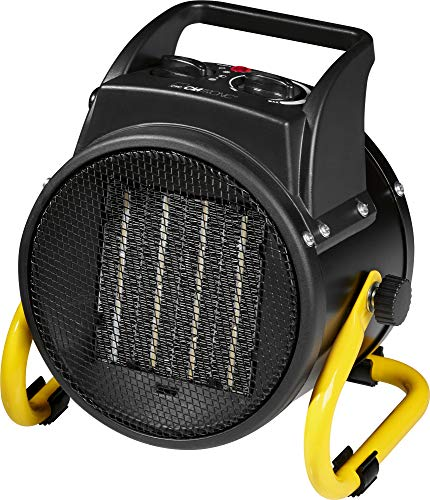 Clatronic HL 3651 Keramik-Heizlüfter, 4-Stufen-Schalter, stufenlos regelbarer Thermostat, 2 Heizstufen (1000/2000 W), Ventilatorfunktion