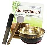 Klangschale Bengali 5-teiliges Klangmassage Set mit BUCH von Peter Hess. Therapie-Qualität: BAUCHIGE KOPFSCHALE ca. 400-450g ca. 12-14cm mit Kissen, Holz-Leder-Reibe- & Therapie-Klöppel. 70177