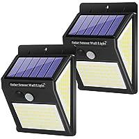 2-Pack Austrobo 3 Modes 140 LED Solar Motion Sensor Powered Flood Lights