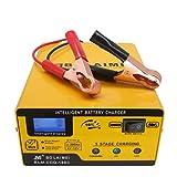 Bolaimei Caricabatterie 12V/6V 1A-15A Caricatore di impulsi Caricabatterie Automatico Intelligente Completamente Automatico con Schermo LED per Auto, Moto, Giocattoli