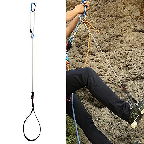 Enticerowts Ceinture de pédale réglable en extérieur pour l'escalade, l'alpinisme adapté à divers environnements de montagne Bonne performance de sécurité, Noir/blanc