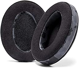 WC Wicked Cushions Velour Replacement Earpads for ATH M50X - Compatible with Audio Technica M40X / M50XBT / HyperX Cloud 1 & 2 / SteelSeries Arctis 3/5 / 7 / 9X & Pro/Stealth 600 & More (Black Camo)