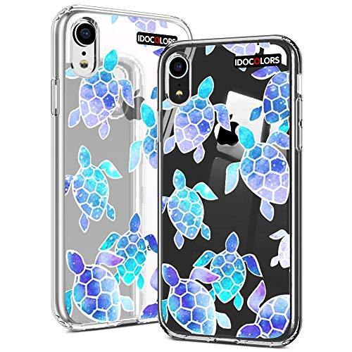 Idocolors Cover per iPhone 6 Plus/6s Plus Antiurto Protettiva Custodia TPU Morbido Backcover Cellulare Cover Trasparente Tartaruga