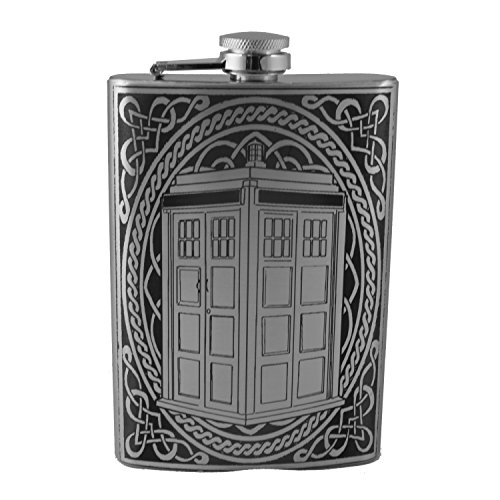 8oz Police Call Box Celtic Flask L1