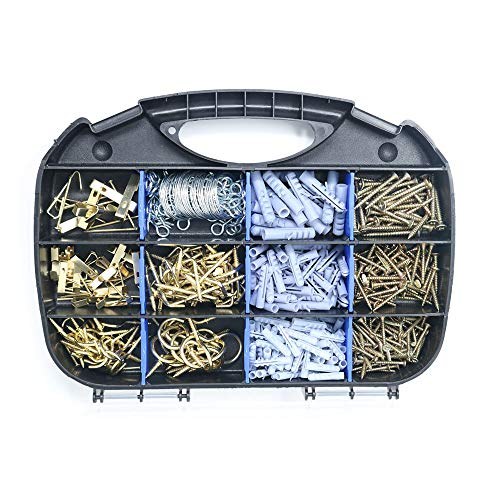 T.K.Excellent Household Repair and Hanging Kit, Screws, Anchors, Cup Hooks and Picture Hangers,546 Pcs