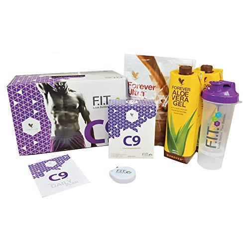 FOREVER CLEAN 9 - Chocolate - Aloe Vera Gel | Garcinia Plus, Therm, Fiber, Ultra Shake Mix | Versorgt mit allen wichtigen Vitaminen, Mineralstoffen und Spurenelementen