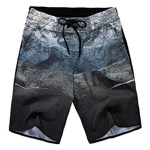 Mens Quick Dry gedrukte korte zwembroek Mens zwembroek Quick Dry Board Korte Broek met Zakken Badmode Badpakken