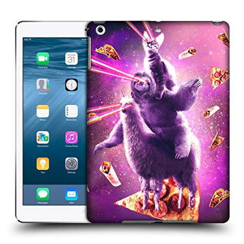 Head Case Designs Officially Licensed James Booker Sloth & Cat Lazer Eyes 2 Space Llama Hard Back Case Compatible with Apple iPad Air (2013)
