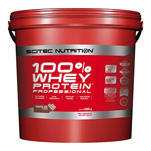Scitec Nutrition 100% Whey Professional Protein Powder - 5000g, Chocolate