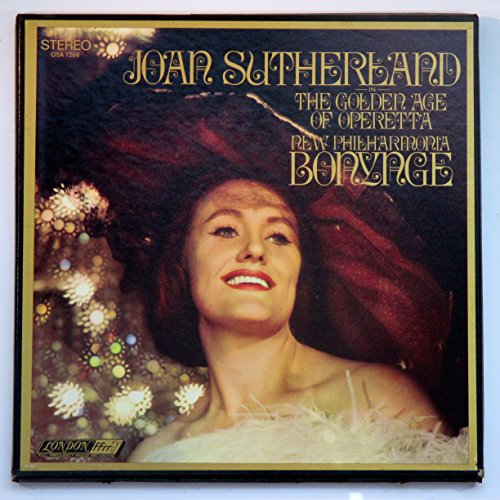 Joan Sutherland in The Golden Age of Operetta (2 Record Box Set with 32 Page Booklet of Text & Photos) Richard Bonynge Conducting The New Philharmonia Orchestra / With The Ambrosian Light Opera Chorus (Chorus master : John McCarthy)