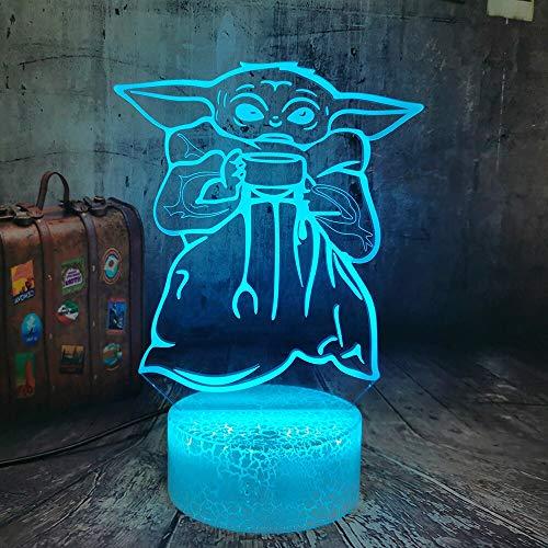 Nur 1 Stück 3d 7 Farben Tischlampe Haushalt Glühbirne Kind Fan Spielzeug Junge Lampe