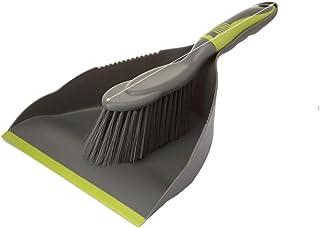 ほうき ちりとりセット ミニクリーニングブラシ 掃除道具 軽量 頑丈 掃除セット 台掃除用 床 机 テーブル キッチン 運転席 おしゃれ 年末掃除 ペット用にも (グレー)
