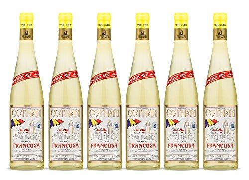 Cotnari | Francusa – Rumänischer Weißwein trocken | Weinpaket (6 x 0.75 L) D.O.C. – C.M.D. + 1 Kugelschreiber Amigo Spirits gratis