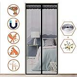 XXYANZI Zanzariera Magnetica Adesivo 130x250cm, Super Silenzioso Rete Zanzariere su Misura Anti Insetti Mosche Zanzare, per Corridoi/Porte/Patio - Nero