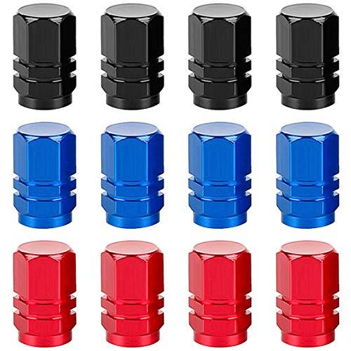 Tapa de Válvula de Neumático, Tapas para Válvulas de Aire Guardapolvo Tapones de Llantas Neumáticos de Aleación de aluminio universal para Coche Bici Moto Prácticas piezas de repuesto para automóviles