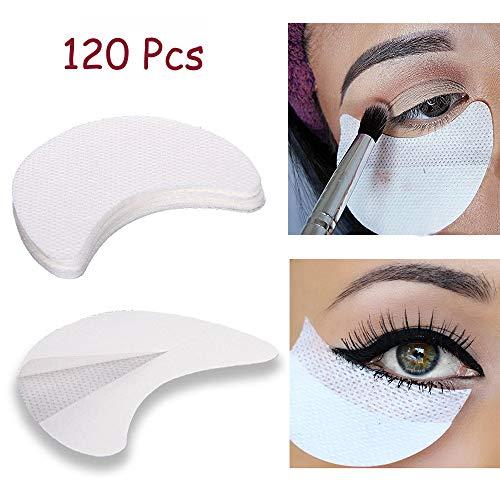 Kalolary 120 Stücke Lidschatten Schablonen Weiß Lidschatten Schild Pads Klebstoff unter Augen Lidschatten Pads für Damen Make-up Verwenden (L Größe)