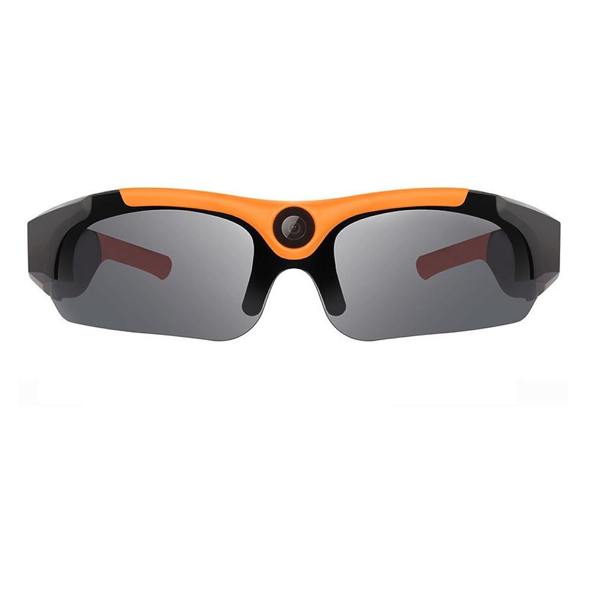 協力台風雹JTN1 スポーツカメラ サングラスカメラ 隠しカメラ 1080P 高画質 多機能 ビデオカメラ ドライブレコーダー 偏光サングラス 広角レンズ (オレンジ)