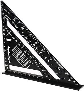 7 inch driehoekige liniaal, 7 inch driehoek hoekmeter, aluminium driehoekige liniaal, zwarte aluminiumlegering, zeer nauwk...
