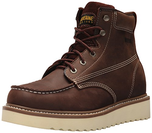 Wolverine Men's Loader 6' Soft Toe Wedge Work Boot, Brown, 10.5 M US