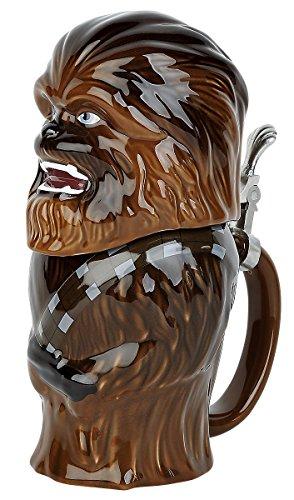 STAR WARS Chewbacca Beer Mug 25 cm, Ceramic, Brown, 9 cm