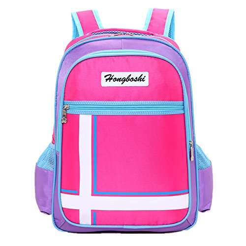 Bom Bom Mochila Escolar Bolsa Colegio para Ninos Ninas Impermeable(rosado)
