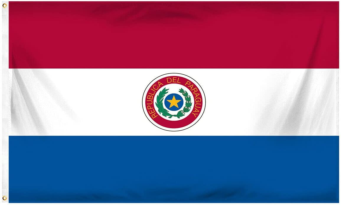 Paraguay 3ft sold out x 5ft Max 45% OFF Polyester Printed Flag