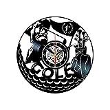 Golf Wall Cock Golfing Regalos para hombres Temática Vinilo...