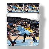 Juego de funda nórdica Asociación nacional de ropa de cama para jugadores de baloncesto Playoffs Finales Allstar Super Star Freethrow Lane Colcha de edredón de porcentaje de tiro de tres puntos con 2