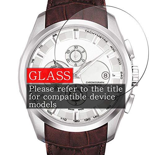 VacFun 3 Piezas Vidrio Templado Protector de Pantalla Compatible con Longines L1.611.4.75.2, 9H Cristal Screen Protector Sin Burbujas, Alta Definición Película Protectora Reloj Inteligente New Version